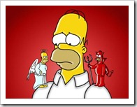 Homer angel-vs-diablo
